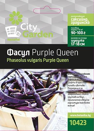 City garden семена фасул Purple Queen