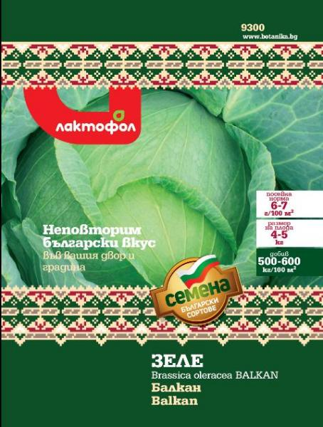 Български семена Зеле Балкан