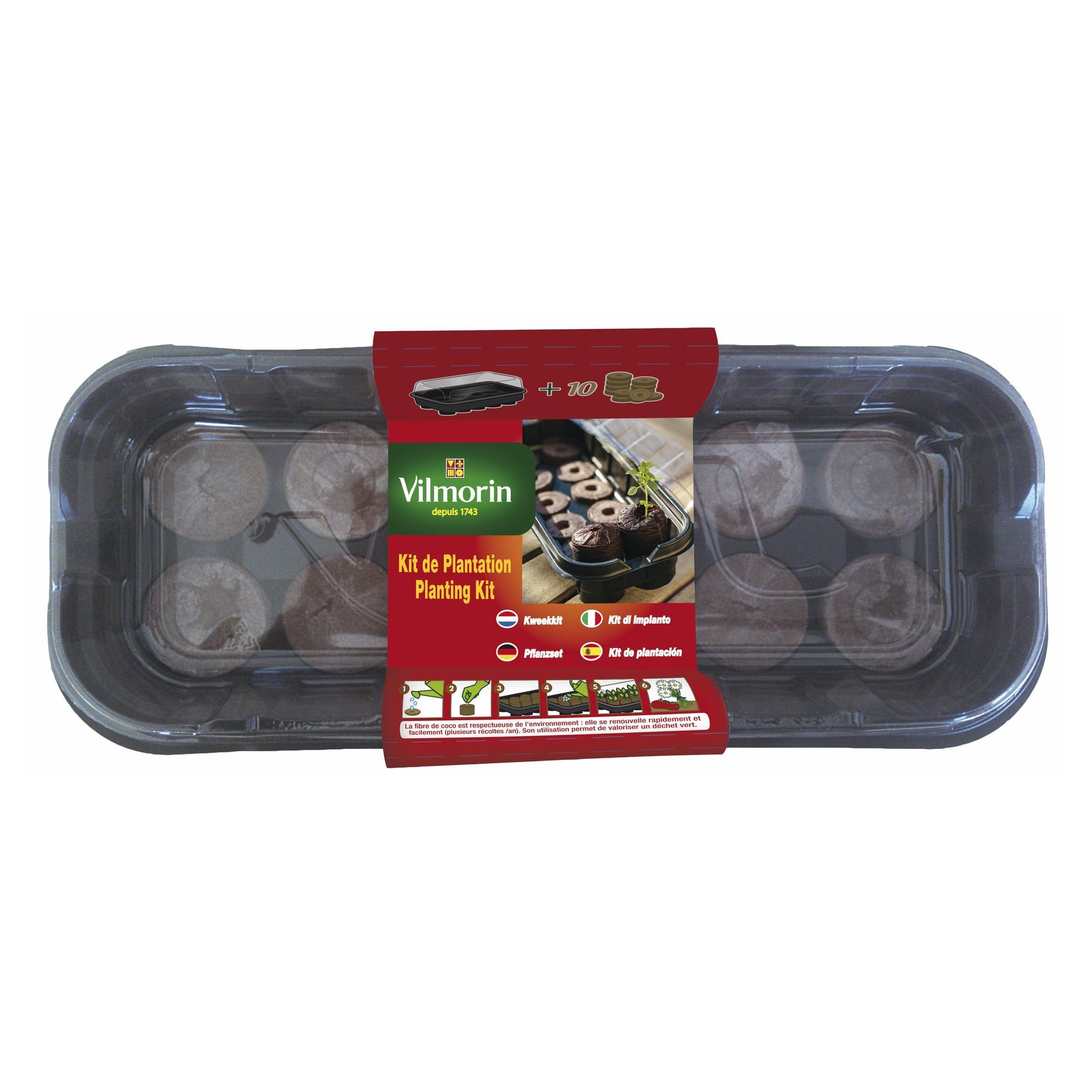 Мини оранжерия + 10 кокосови пелети
