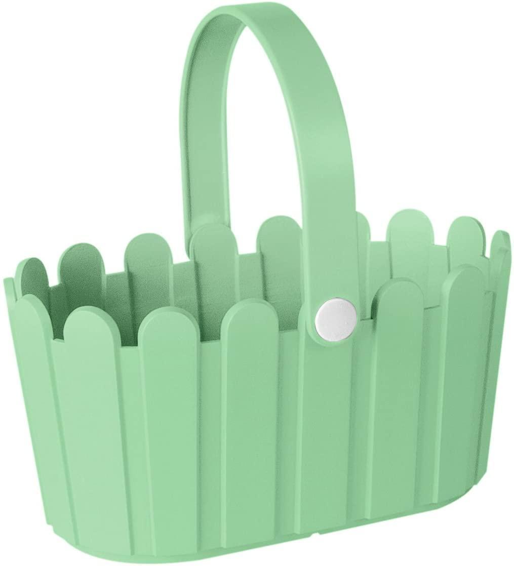 Landhaus пластмасова кошница светло зелена