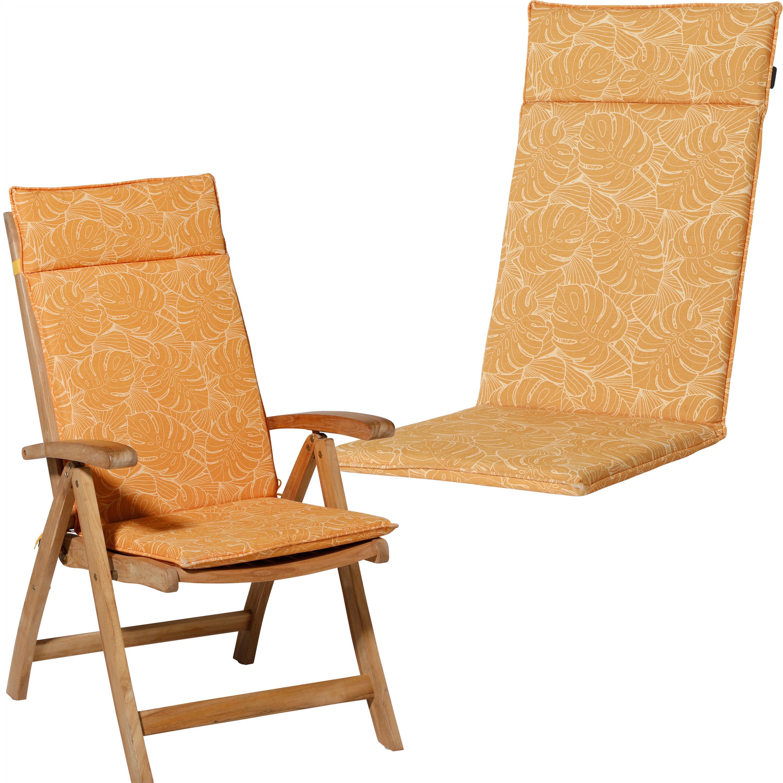 Възглавница за стол с ниска облегалка, 50x105, палмово-жълто