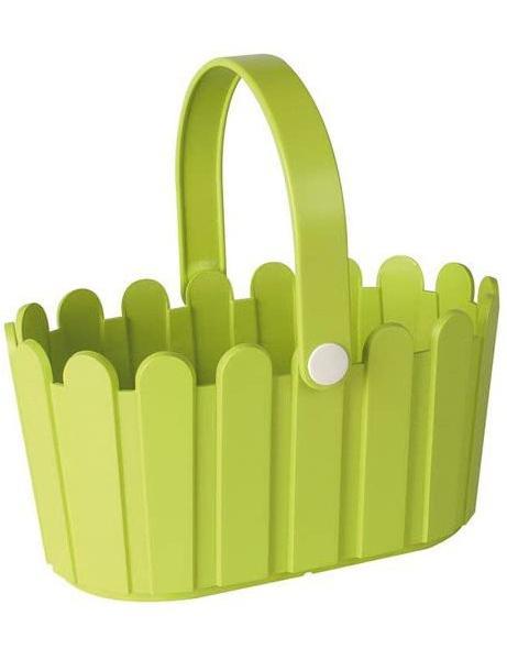 Landhaus пластмасова кошница зелено