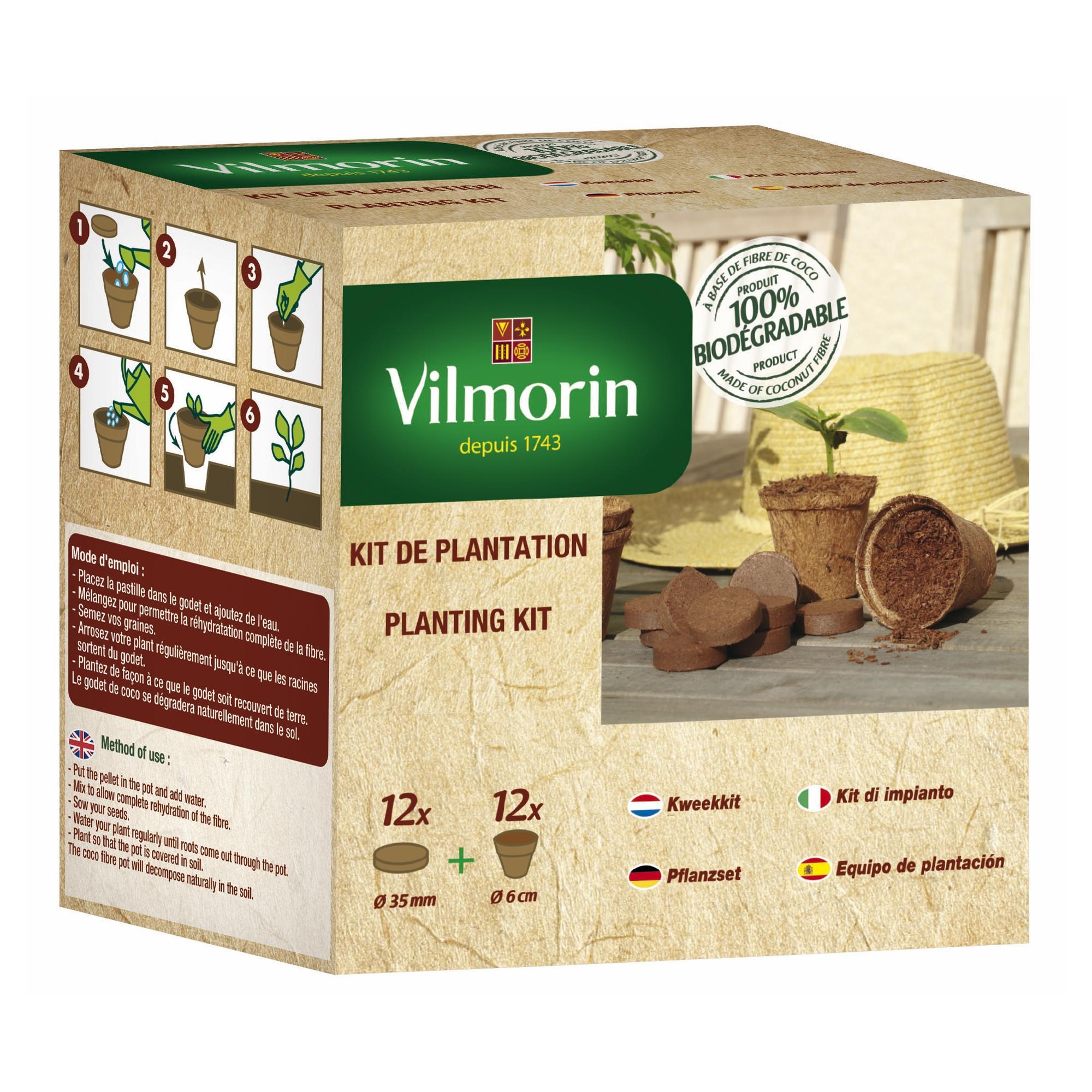 Комплект 12 кокосови саксии + 12 компресирани кокосови пелети