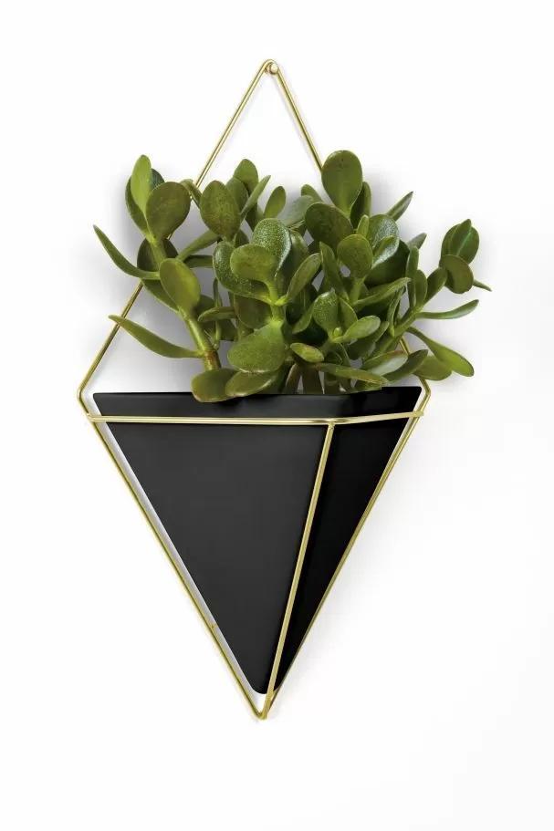 Кашпа за стена UMBRA TRIGG, черен и златен