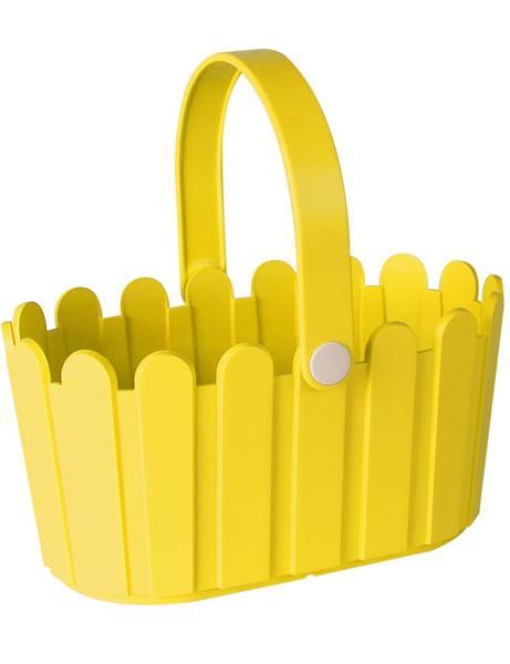 Landhaus пластмасова кошница жълто