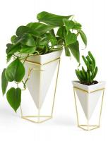 Кашпи тип ваза UMBRA TRIGG, бял/златен , 2бр.