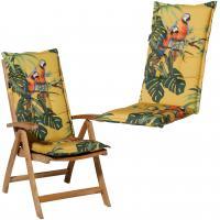 Възглавница за висок стол 50x123, пастелно-жълто
